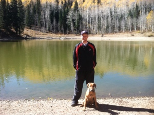 Matt & Titan at Dog Lake